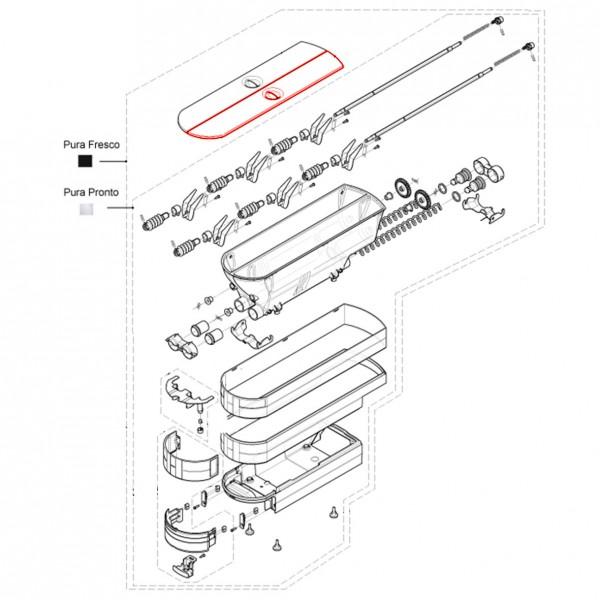 Pulverbehälterdeckel rechts