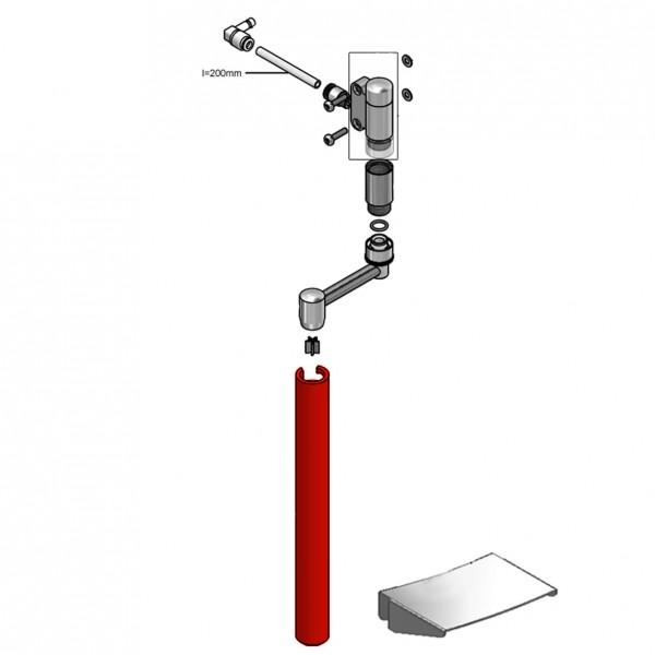 Reinigungsrohr für Kannenauslauf
