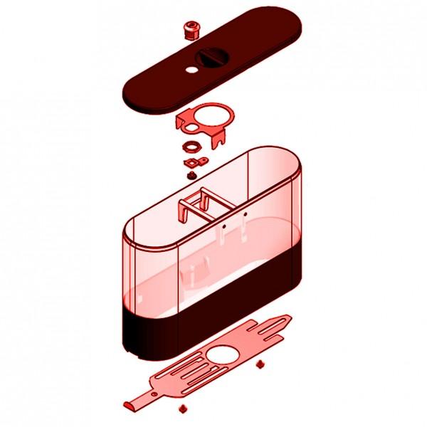 Bohnenbehälter links/rechts abschließbar