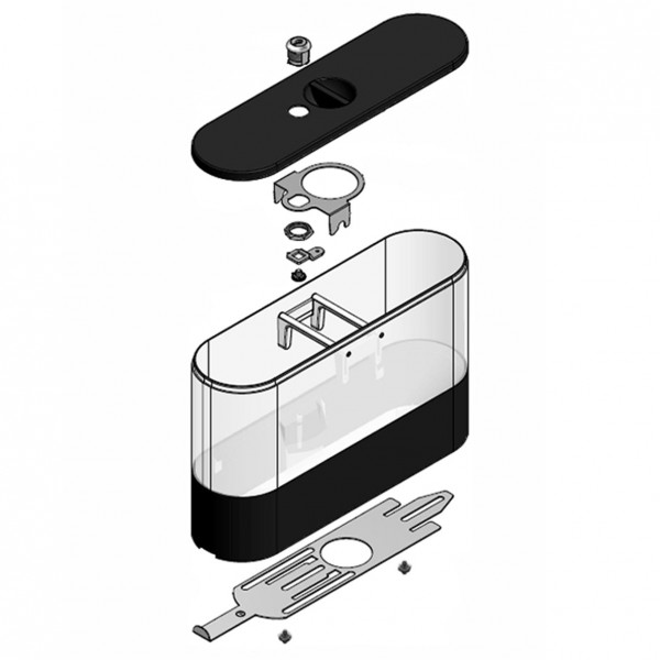 Bohnenbehälter li/re abschliessbar schw.