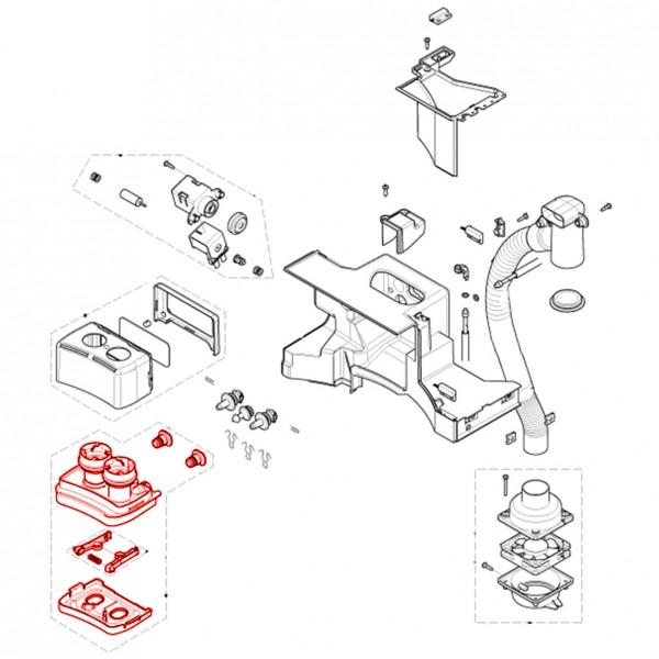 Schublade für Pulver 647 komplett V3