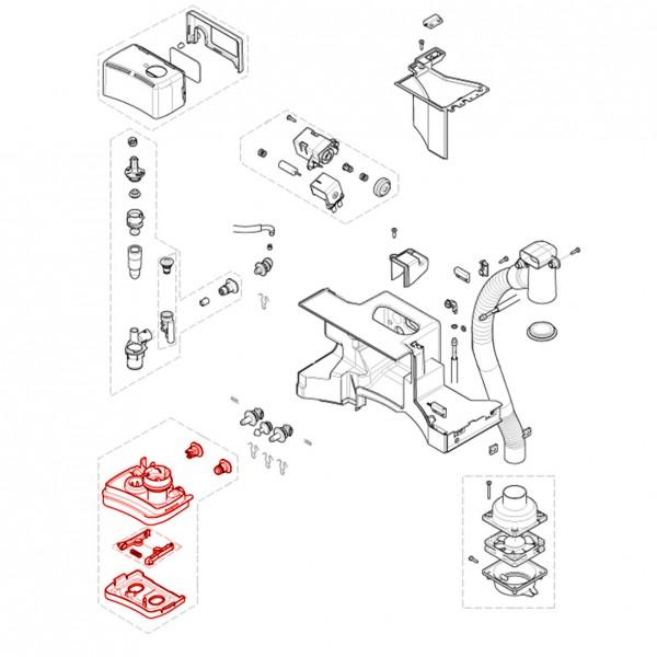 Schublade für Pulver 648 komplett V3
