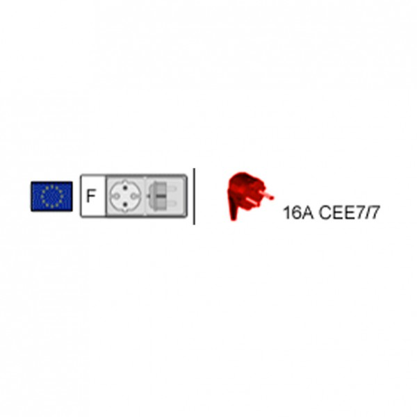 Netzkabel L=2m C13 10A CEE 7/7