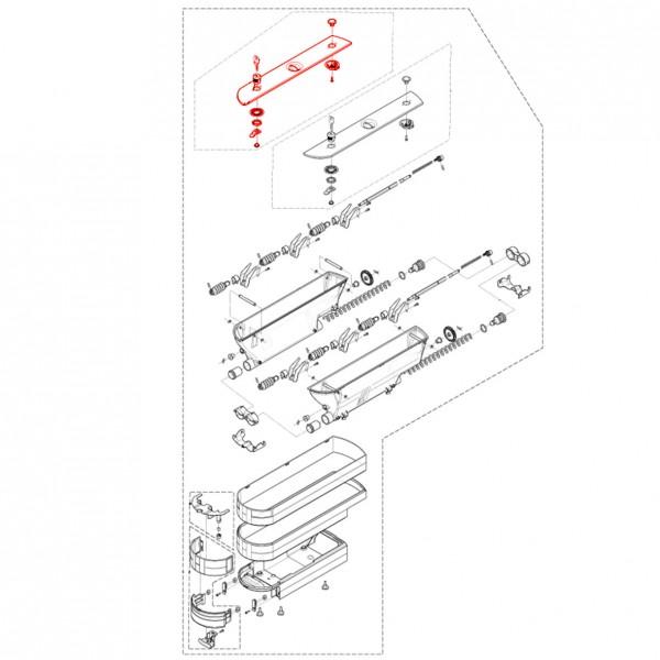 Pulverbehälterdeckel abschliessbar links